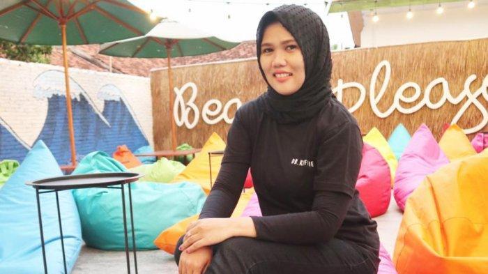 Potret pengusaha perempuan Lampung Yustinia.