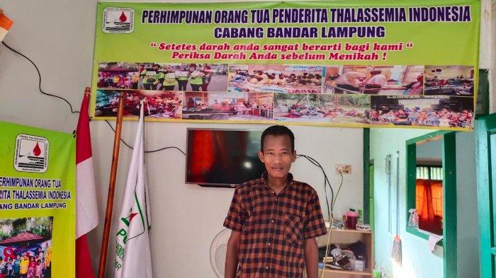 Potret penyandang thalassemia, Sugondo (42), di Rumah Singgah Thalassemia milik POPTI cabang Bandar Lampung, Minggu, 6 September 2020.
