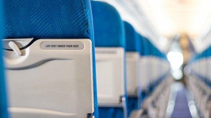 Ilustrasi kursi penumpang pesawat.