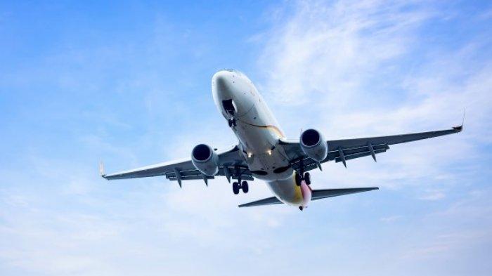 Ilustrasi pesawat terbang.