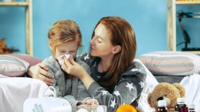 Ilustrasi anak flu.