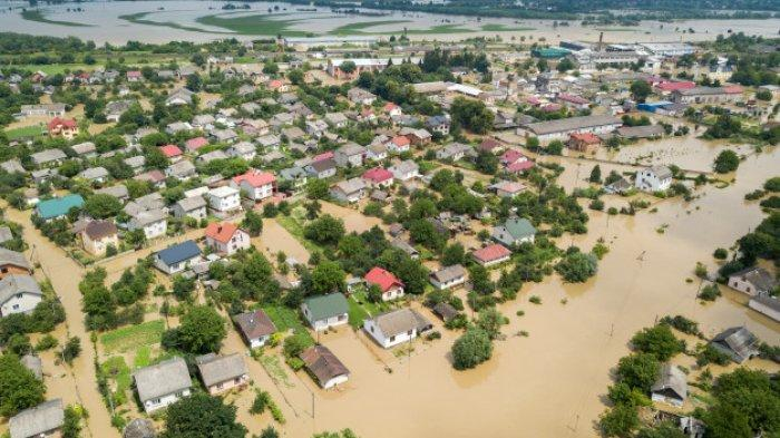 Ilustrasi area banjir.