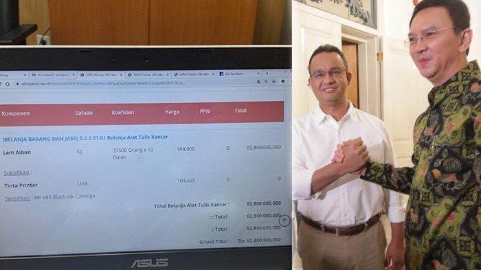 Lem Aibon 82,8 Miliar Naik Daun, Warganet Kritik Anies dan Bandingkan dengan Pemerintahan Ahok