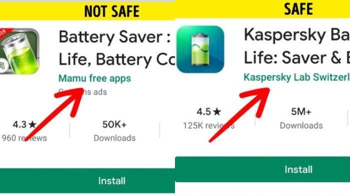 Menggunakan aplikasi baterai yang tidak dikenal.