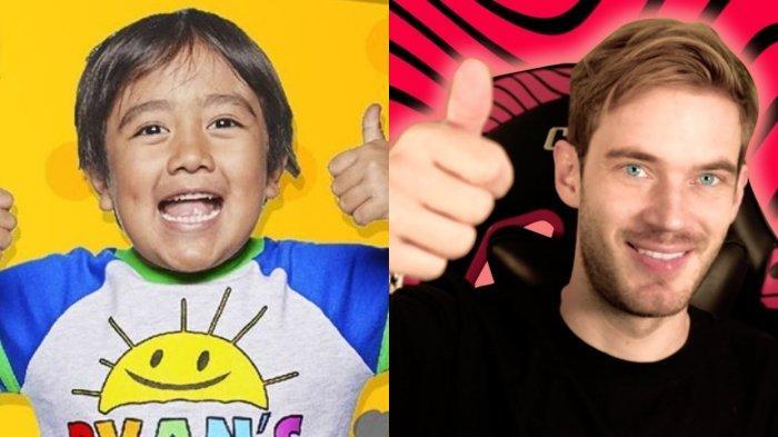 10 YouTuber Punya Bayaran Tertinggi di Tahun 2019, PewDiePie Kalah dari Bocah 8 Tahun
