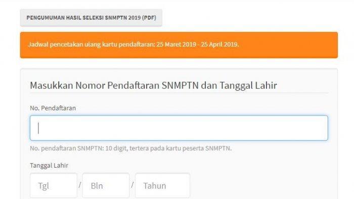 Pengumuman SNMPTN 2020