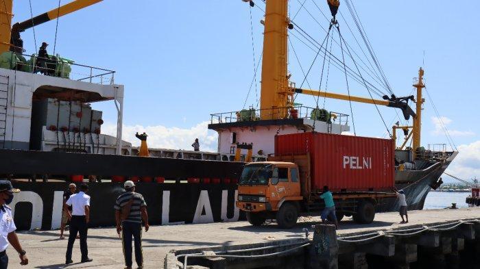 19 Kontainer Muatan Balik Tol Laut Diangkut dari Lewoleba NTT Menuju Surabaya