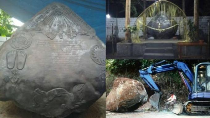 Batu yang diklaim sebagai prasasti Kerajaan Agung Sejagat