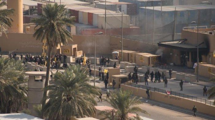 ILUSTRASI (Kompleks Kedubes AS) - TERBARU Roket Hantam Kedutaan Besar AS di Zona Hijau Baghdad