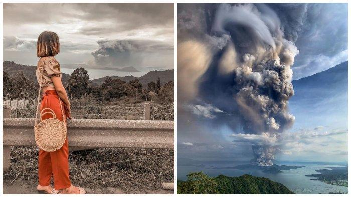20 Foto yang Menunjukkan Dahsyatnya Erupsi Gunung Taal di Filipina