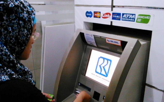 Ilustrasi ATM BRI