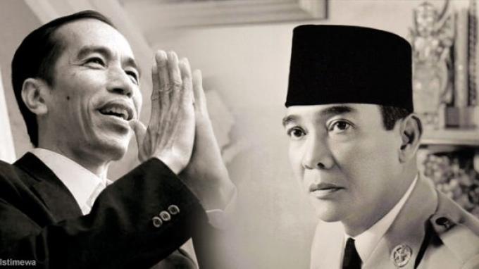 Arsip Berharga, Beda Gaya Jokowi dan Bung Karno dalam Upacara Bendera 17 Agustus