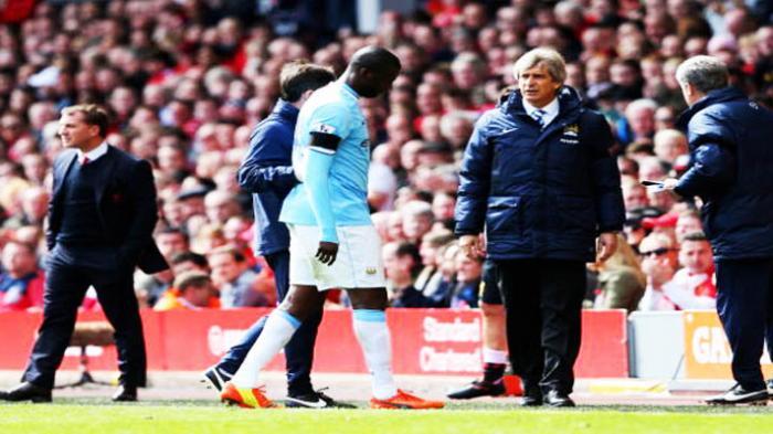 Derita Manchester City: Sudah Kalah dari Liverpool, Yaya Toure Pun Cedera