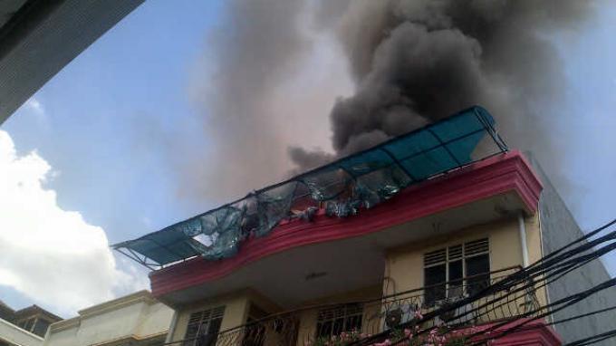 Rumah Kos 3 Lantai di Palmerah Terbakar