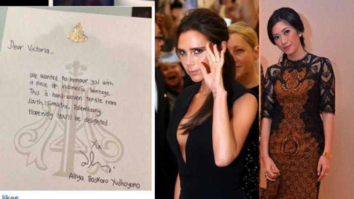 Bunyi Surat Dari Menantu SBY dan Jawaban Victoria Beckham