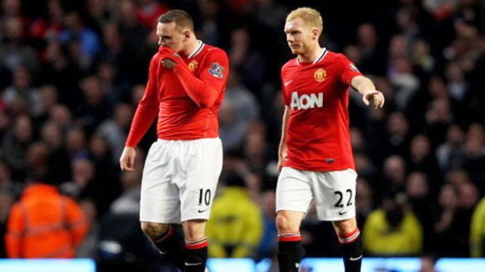 Wayne Rooney dan Paul Scholes saat keduanya membela Manchester United.