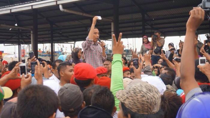 Piagam Perjuangan Marsinah, Komitmen Jokowi Berikan Tri Layak Pekerja dan Buruh