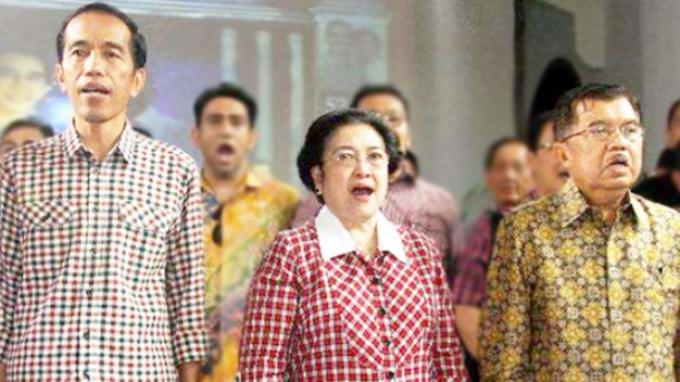 Jusuf Kalla dan Megawati Berjalan Beriringan Saat Datang Ke Nusantara V