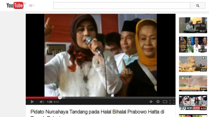 Nurcahaya: Saya Minta Maaf karena Sebut Prabowo Titisan Allah