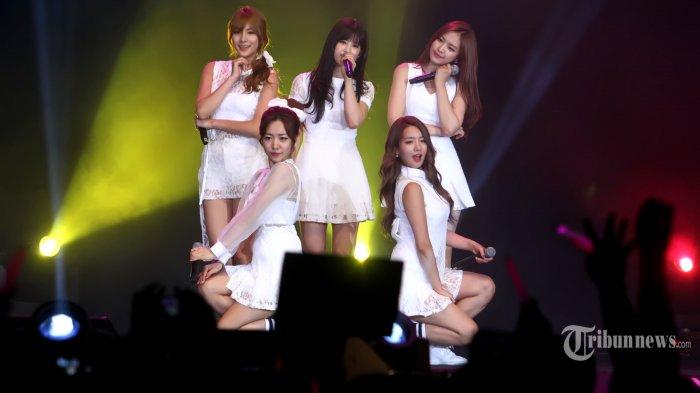 A Pink, girlband asal Korea Selatan yang beranggotakan 6 orang, yaitu Park Chorong, Yoon Bomi, Jung Eunji, Son Naeun, Kim Namjoo, dan Maknae Oh Hayoung, minus Jung Eunji tampil pada konser musik yang bertajuk