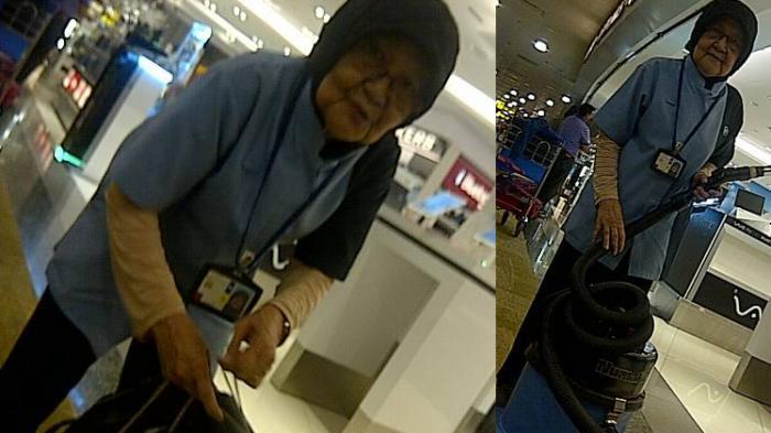 Nenek 78 Tahun Ini Masih Kerja Jadi Petugas Cleaning Service Di Bandara Changi Singapura Tribunnews Com Mobile