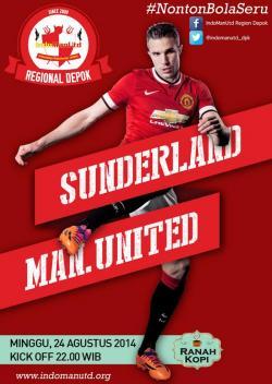 Indomanutd Regional Depok Gelar Nobar Sunderland AFC Vs Manchester United