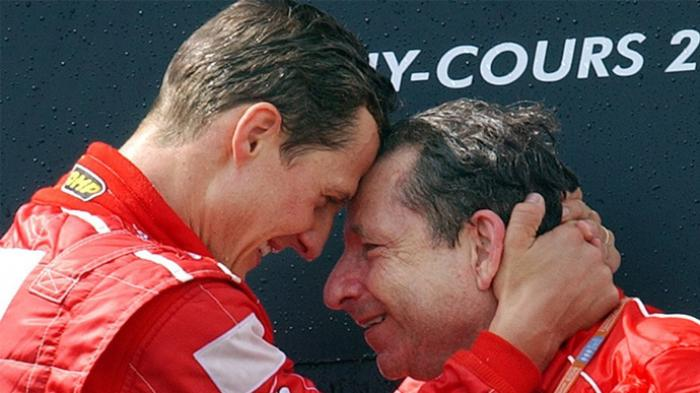 Michael Schumacher dan Jean Todt saat keduanya masih bernanung di Ferrari.