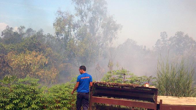 Kebakaran Hutan Nyaris Ludeskan Asrama Polres Kutim