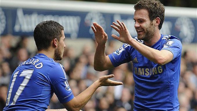 Juan Mata Nilai Eden Hazard Layak Masuk Jajaran Pemain Terbaik Liga Inggris