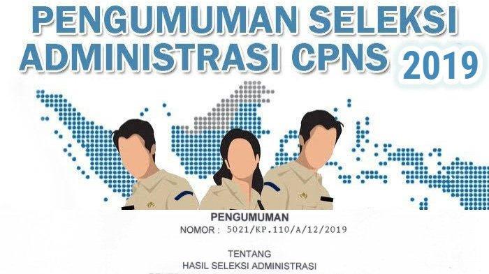 Hasil Seleksi Administrasi CPNS 2019.