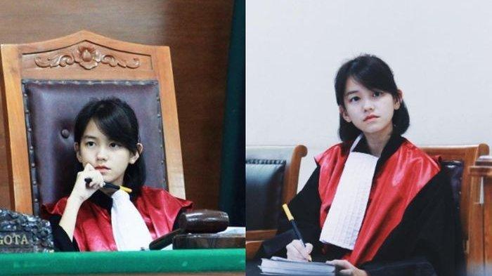 Viral di Medsos, Pemilik Foto Hakim Berwajah Cantik Ini Pesen; Saya Jangan Diculik Ya