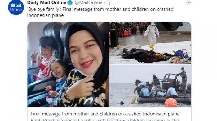 Ini 3 Kisah Mengharukan Korban Jatuhnya Pesawat Sriwijaya Air