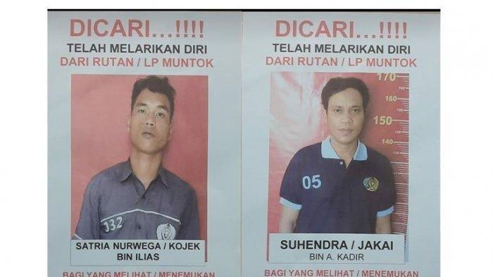 3 Napi di Penjara Bangka Barat Kabur, Gunakan Paku Jebol Plafon, 1 Berhasil Ditangkap, 2 Buron