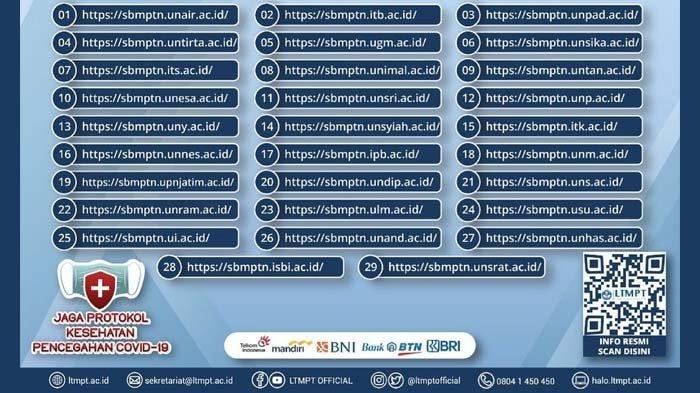 30 link alternatif pengumuman hasil seleksi SBMPTN 2021