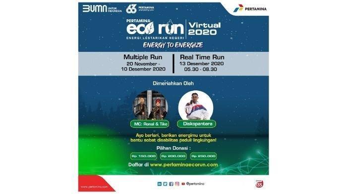 3000 Runner Peduli Disabilitas Mulai Multiple Run di Pertamina Virtual Eco Run 2020