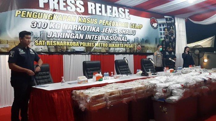 Polisi Amankan 310 Kg Narkoba Asal Iran, Dikendalikan dari Nigeria, Masuk Indonesia Via Jalur Laut