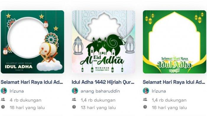 35 LINK Twibbon untuk Buat Kartu Ucapan Selamat Hari Raya Idul Adha 1442 H, Selasa 20 Juli 2021