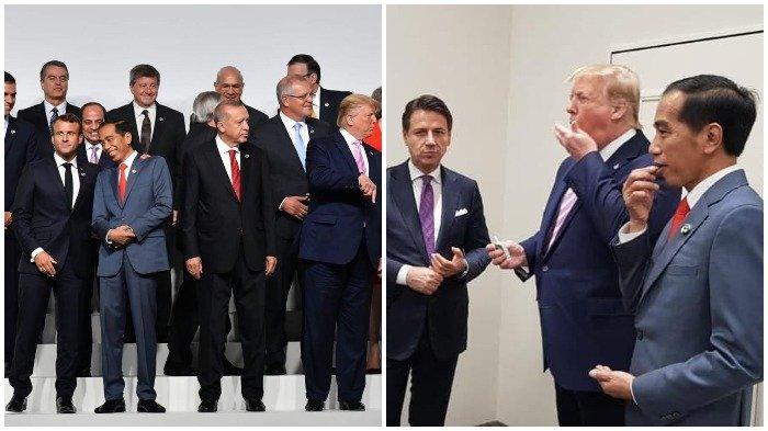 4 Momen Jokowi di KTT G20: Banjir Ucapan Selamat, Dapat Permen dari Trump, Diapit Erdogan-Macron