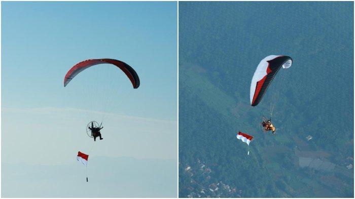 Pecahkan Rekor Dunia! 8 Paramotor Kibarkan Bendera Merah Putih di Atas Ketinggian 2.020 meter