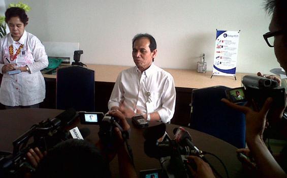 Direktur Utama RSCM Akmal Taher di Jakarta, Kamis (8/12/2011).