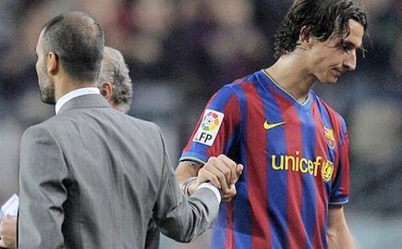 Zlatan Ibrahimovic saat masih di Barcelona
