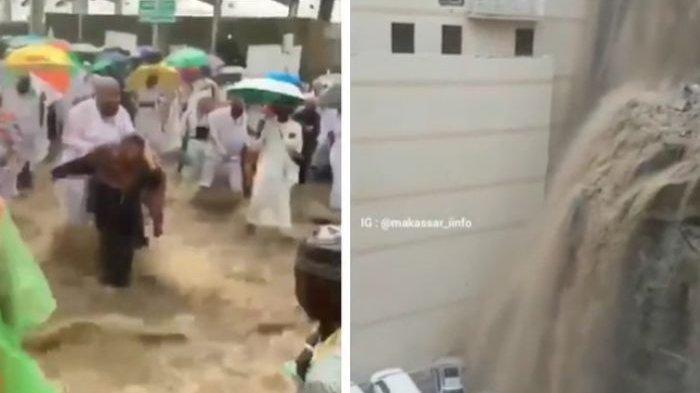 Viral Video Banjir Bandang di Mina Saat Ibadah Haji, Kemenag hingga Aa Gym Pastikan Kabar Itu Hoaks