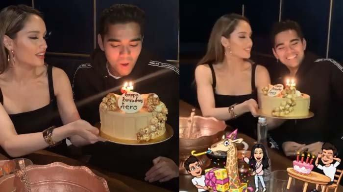 Kedekatan Cinta Laura dan Aero Aswar di pesta ulang tahun
