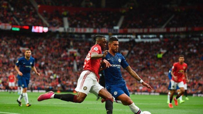 Aaron Wan-Bissaka melawan Chelsea (@awbissaka)