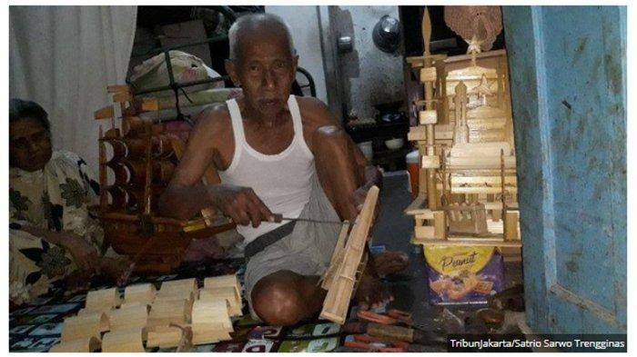 Kisah Abah Idris (96), Pembuat Kapal Pinisi Bambu di Cilincing: Gigih Bekerja Meski Sidah Ringkih
