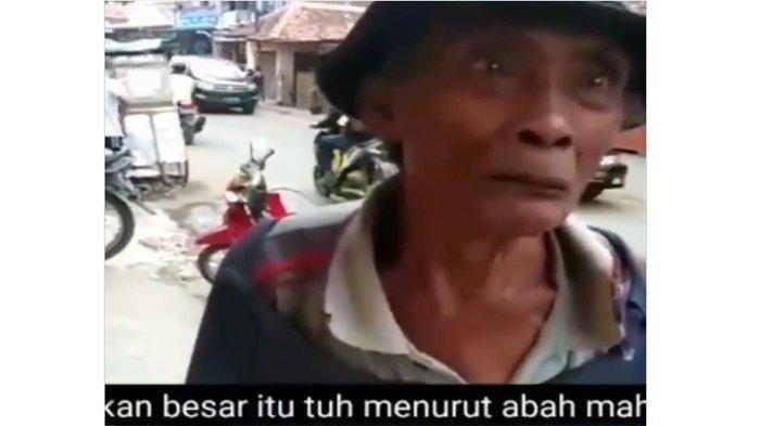 Abah Tono (70) saat diwawancari oleh yayasan Silihasahsilihasihsilihasuh dan menyebut penghasilannya Rp 1.500. Diunggah pada hari Senin (4/5/2020) dalam akun instagramnya @Silihasahsilihasihsilihasuh.