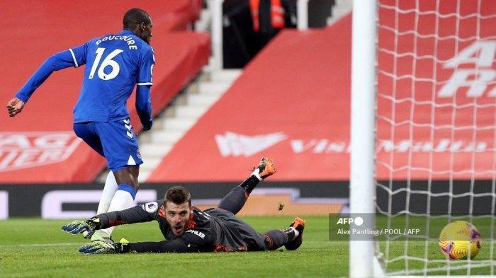 HASIL LIGA INGGRIS: Drama Everton Imbangi MU, David de Gea Blunder & Kebobolan 2 Gol dalam 3 Menit