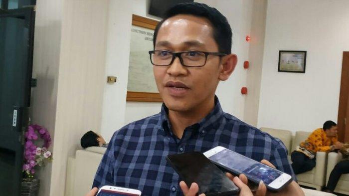 Calon DPD RI terpilih dari Sulawesi Tengah, Abdul Rachman Thaha saat ditemui Rapat Plono Penetapan Calon DPR dan DPD Terpilih di kantor KPU, Sabtu (31/8/2019).