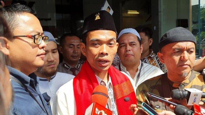 Ustaz Abdul Somad bertandang ke Gedung Merah Putih KPK, Jakarta Selatan, Selasa (19/11/2019)