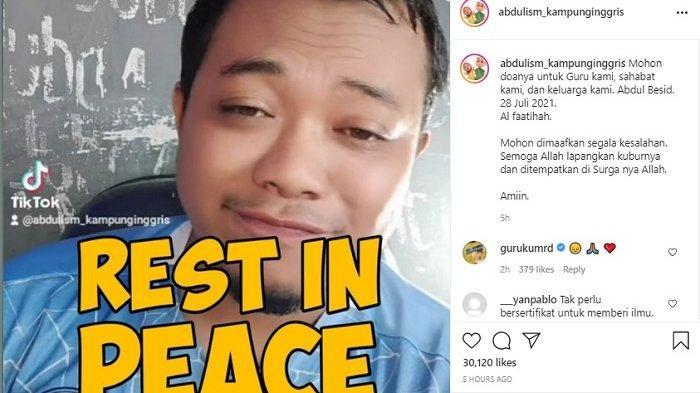 PROFIL Abdulism Kampung Inggris, Seleb TikTok Meninggal karena Covid-19, Sempat Buat Video Pamit